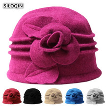 SILOQIN  Panama Ladies Cap Woman Winter New Fashion 100% Wool Keep Warm Fedoras Leisure Tourism Party Lady Brand Hats Casquette