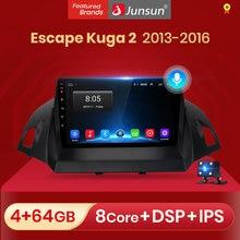 Obsługa głosowa Junsun AI 2 + 32GB Android 10 dla forda Kuga Escape 2013-2016 Radio samochodowe multimedialny odtwarzacz wideo nawigacja GPS 2 din