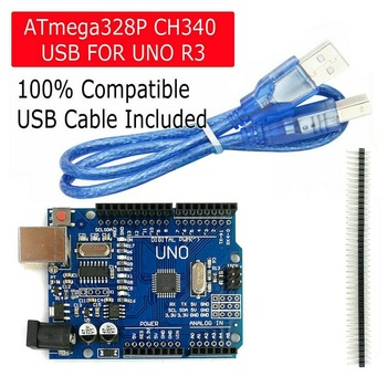 2020 New high quality One set UNO R3 CH340G+MEGA328P Chip 16Mhz For Arduino UNO R3 Development board + USB CABLE uno r3 ch340g mega328p smd chip 16mhz for arduino uno r3 development board usb cable atega328p one set