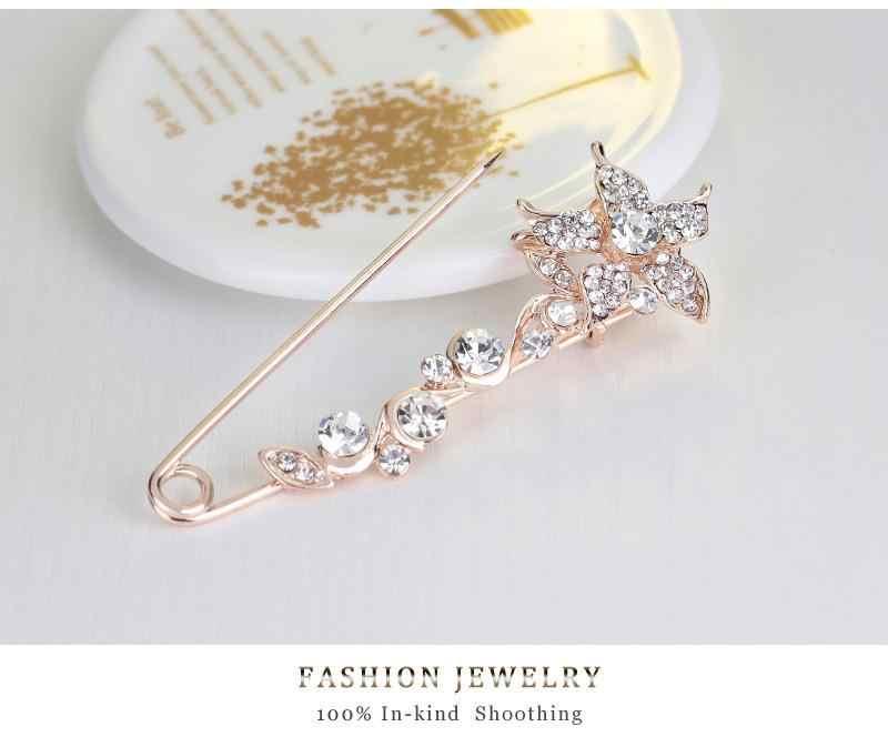 Große Größe Pfeil Metall Pin Set Hemd Schleier Hijab Schal Rose Blume EINE Brosche Frauen