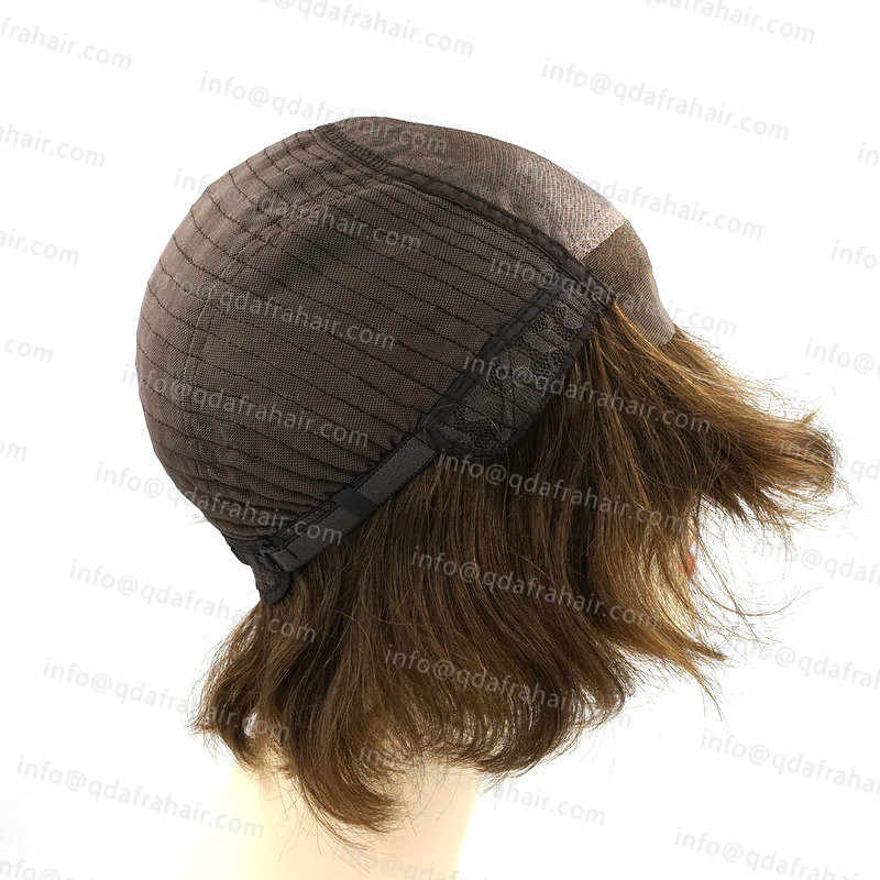 Hstonir 14.5 Cal europejskiej Remy włosy Peruka Perruque Femme Juif Bob koronki przodu peruki naturalne czarne Blond Silktop Peruka G016
