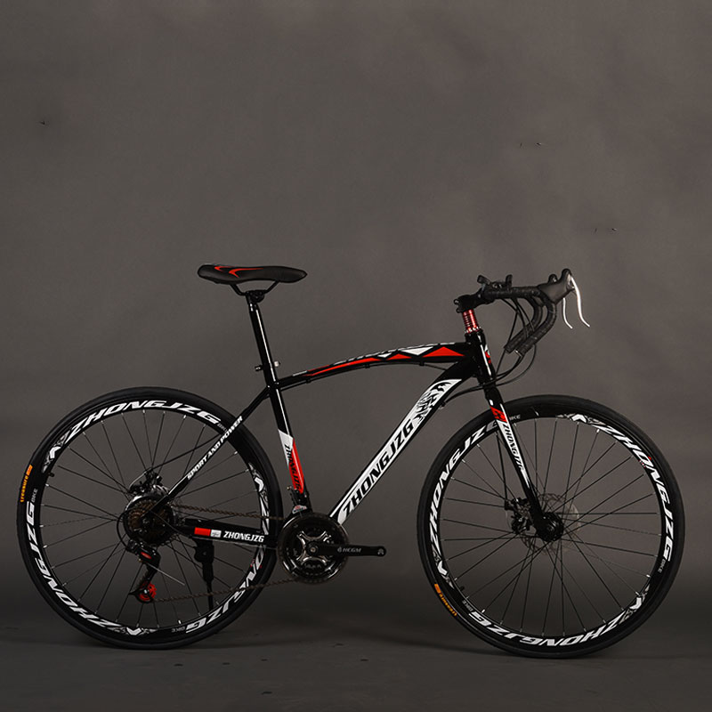 Bicycle Road Bike 26 Inch 27 Speed Fixed Gear Shifting Double Disc Brakes Bending Muscles Men And Women