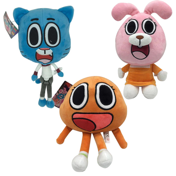 25cm Cute Cartoon Amazing World Gumball Darwin Anais Bunny Plush Doll Soft Stuffed Toys Doll Gifts For Children Kids fancytrader large plush bunny doll lovely soft stuffed cartoon rabbit kids toys gifts pink purple for chilren 100cm