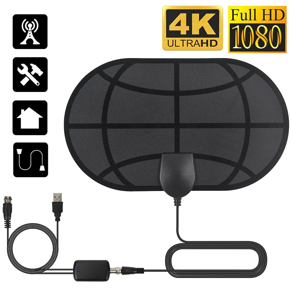 4K Digital HDTV Antenna 980 Mile Range Indoor Clear TV Antennas with Amplifier Signal Booster Active Indoor HD TV Radius Surf