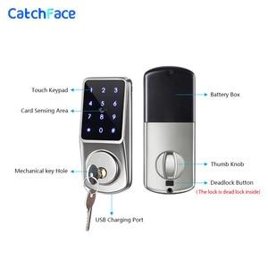 Image 3 - Bluetooth Smart Lock Electronic Door Lock Unlock with TTLock APP Backup Key Digital Lock For Home Office Apartment Hotel School