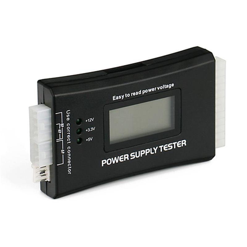 20 4 Pin LCD Power Supply Tester for ATX ITX BTX PCI E SATA HDD