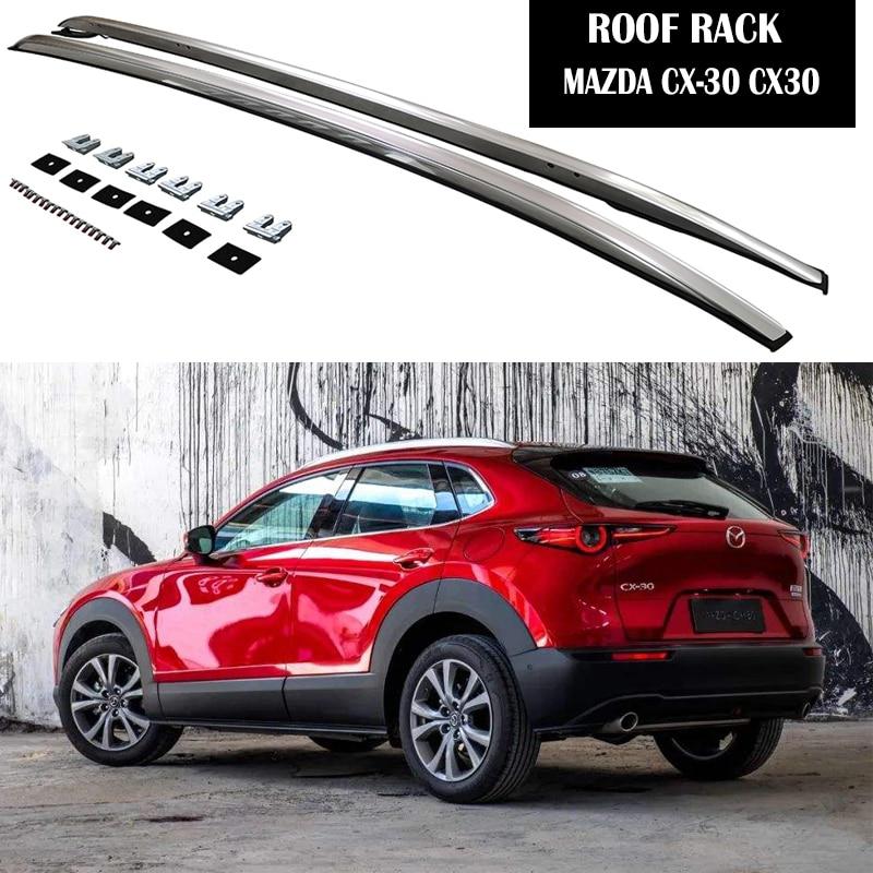 Алюминий сплав Багажник На Крышу для Mazda CX-30 CX30 2020 2021 ограждения бар Чемодан Перевозчик бары Верхняя перекладина рейки Коробки
