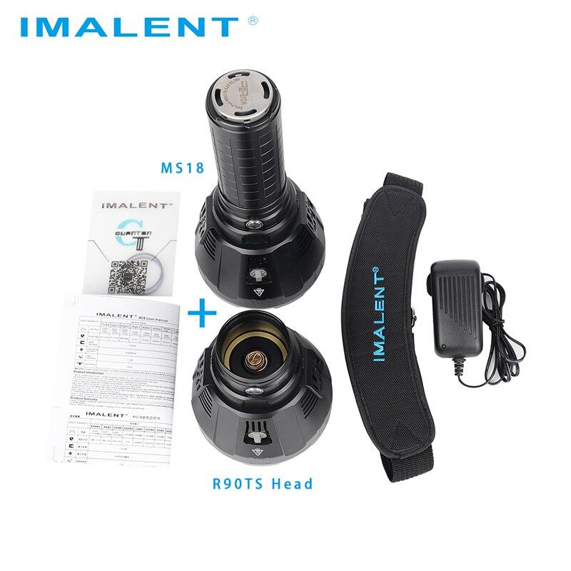 Linterna LED Original IMALENT MS18 + Set de cabeza R90TS CREE XHP35 HI/CREE XHP70.2 100000 LM luz de Flash recargable para buscar - 4
