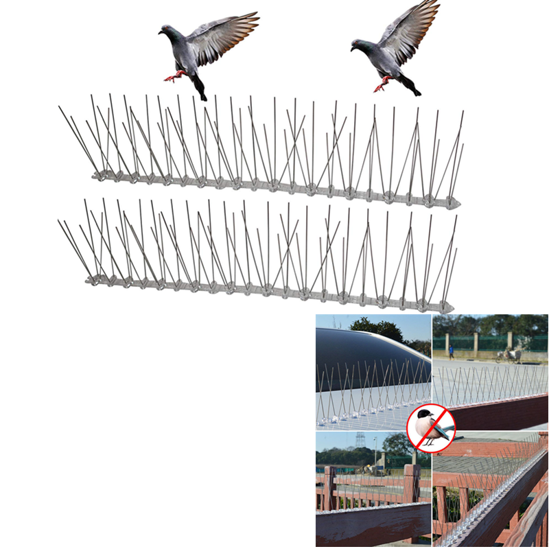Outdoor Bird Repellent Stainless Spikes Eco-friendly Anti Nail For Pigeons Owl Small Fence Roof Sign Protector Deterrent Tool