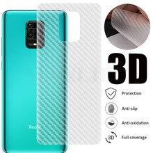 5Pcs/lot 3D Carbon Fiber Screen Protector For Xiaomi Mi 10 Lite Redmi K30 Pro Note 7 8T 9S Pro Back Cover Protective Guard Film