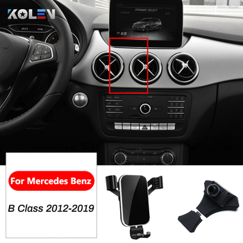 Car Mobile Phone Holder For Mercedes Benz B Class W246 W242 B180 B200 B250 2012-2019 GPS Air Outlet Vent Gravity Bracket Stand image