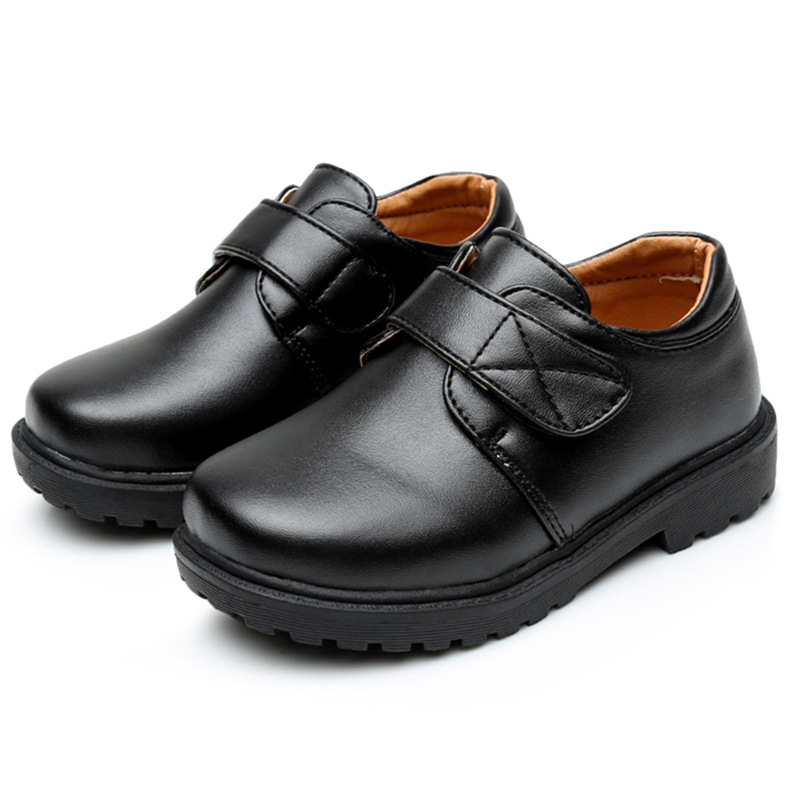 Boys Shoes For School Black Party Shoes For Kids Autumn PU Leather Dance Children Teens Shoe 3 4 <font><b>5</b></font> 6 7 8 9 10 11 12 13 14 Years image