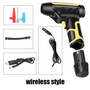 Image 3 - Auto handheld wireless luftpumpe smart digital display auto auto luftpumpe reifen tragbare abnehmbare batterie
