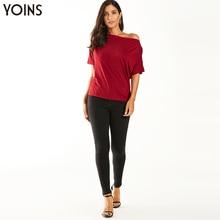 YOINS 2020 Summer Sexy Stylish Bat Sleeve Blouse Female Elegant Burgundy Shirt Casual Tops Tunic Party Office Ladies Chic Blusas