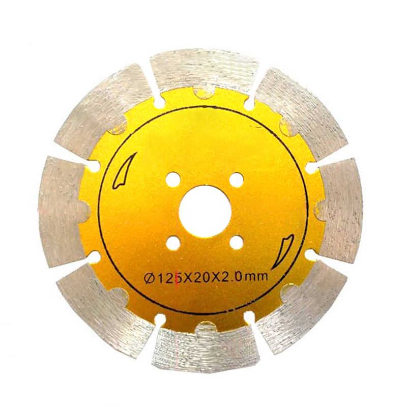 125mm Metal Alloy Wheel Hot Pressed Turbo Saw Blades Cutting Disc Gold