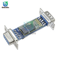 Rs232 HC-06 rf sem fio bluetooth transceptor módulo escravo db9 interface módulo bluetooth placa conversor adaptador