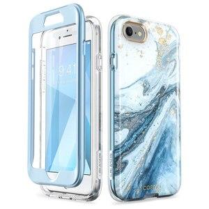 Image 5 - Capa para iphone se 2020, case de corpo inteiro para iphone 7/8, 4.7 polegadas, i blason cosmo, amortecedor de mármore capa com protetor de tela embutido