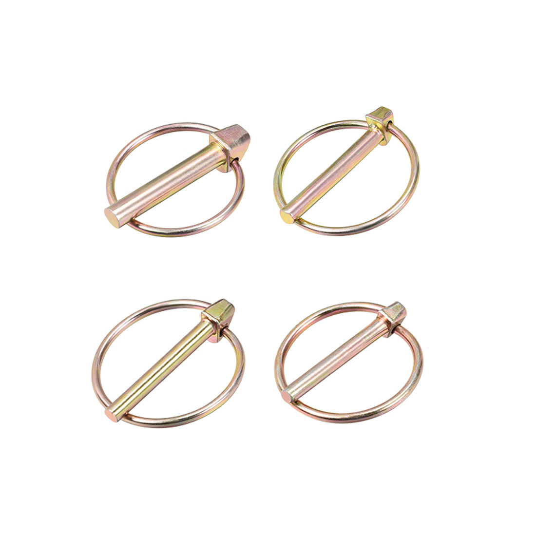 Uxcell 10Pcs Linch Pin With Ring 5x40mm 6x45mm Trailer Pins Assortment Kit For Boat Kayak Canoe Trailer Tractor Trolley Hors