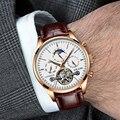 Tourbillon часы 2019 новые спортивные механические часы роскошные часы мужские часы Топ бренд Montre Homme Часы Мужские автоматические часы