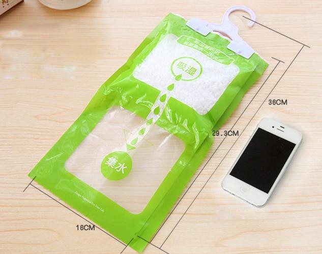 New Desiccant Bag Wardrobe Closet Hanging Moisture Absorbent Dehumidifier 100g Hanging Dehumidifier Bag