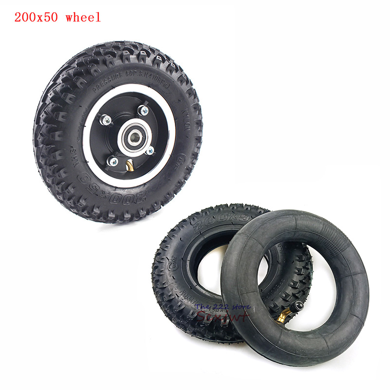 Tire Size 200X50 tyre Inner Tube hub 8X2 Full Wheels Off Road Tyre for Electric Scooter Wheel Chair Truck PneumaticTrolley Cart image