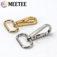 Meetee 10pcs Metal Dog Collar Carbiner Buckle Bag Handbag Strap Clip Hook Key Chain Spring Buckles DIY Crafts Accessories F4-1