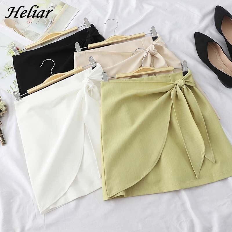 Heliar 2019 Autumn Skirt Fashion Chic Tied Skirt High Waist Sexy High Street Skirt Casual Women Mini Skirt For Women