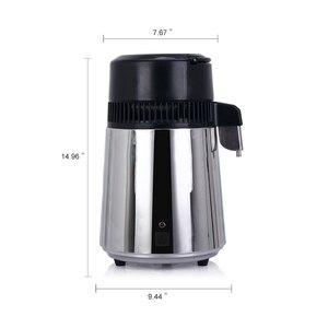 Image 4 - 4L Haushalts Reines Wasser Brennerei Maschine Destilliertem Wasser Destillation Wasserfilter Filter Edelstahl Glas Carbon Filter