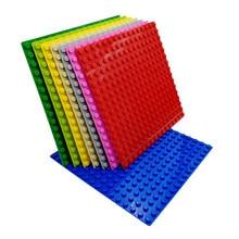 Piastra di Base 16*16 borchie Building Blocks Board mattoni di grandi dimensioni piastra di Base 25.5*25.5cm 10*10 pollici giocattolo di plastica piastra di Base compatibile