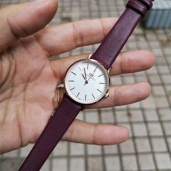 Simple Black White Watches Women Fashion Luxury Brand Quartz Watch Casual Woman Leather Clock Ladies Wristwatch Relogio Feminino - discount item  23% OFF Women's Watches