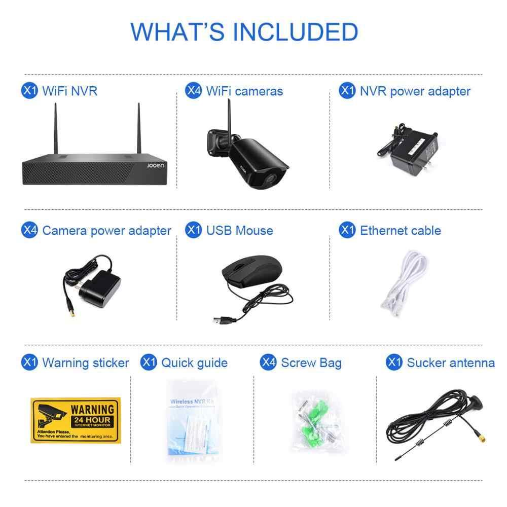 Bezprzewodowy System nadzoru zestaw 1080P 2MP kamera WIFI HD System kamer do monitoringu domu Night Vision wideo zestaw do nadzorowania