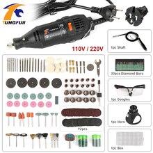 電動ミニドリル dremel ドリル 220 v diy 361 個回転工具アクセサリー電源ツールを切断するための研削彫刻研磨