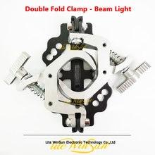 Dobrável braçadeira de bloqueio rápido aço fundido dobrável feixe luz gancho 5r 7r 10r 15r 17r feixe ponto iluminação suporte suspensão ebale tubo