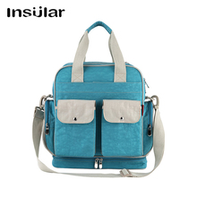 Multifunctional Nylon Mummy Bag Fashion Baby Diaper Bags for Stroller Organizer Large Capacity 45