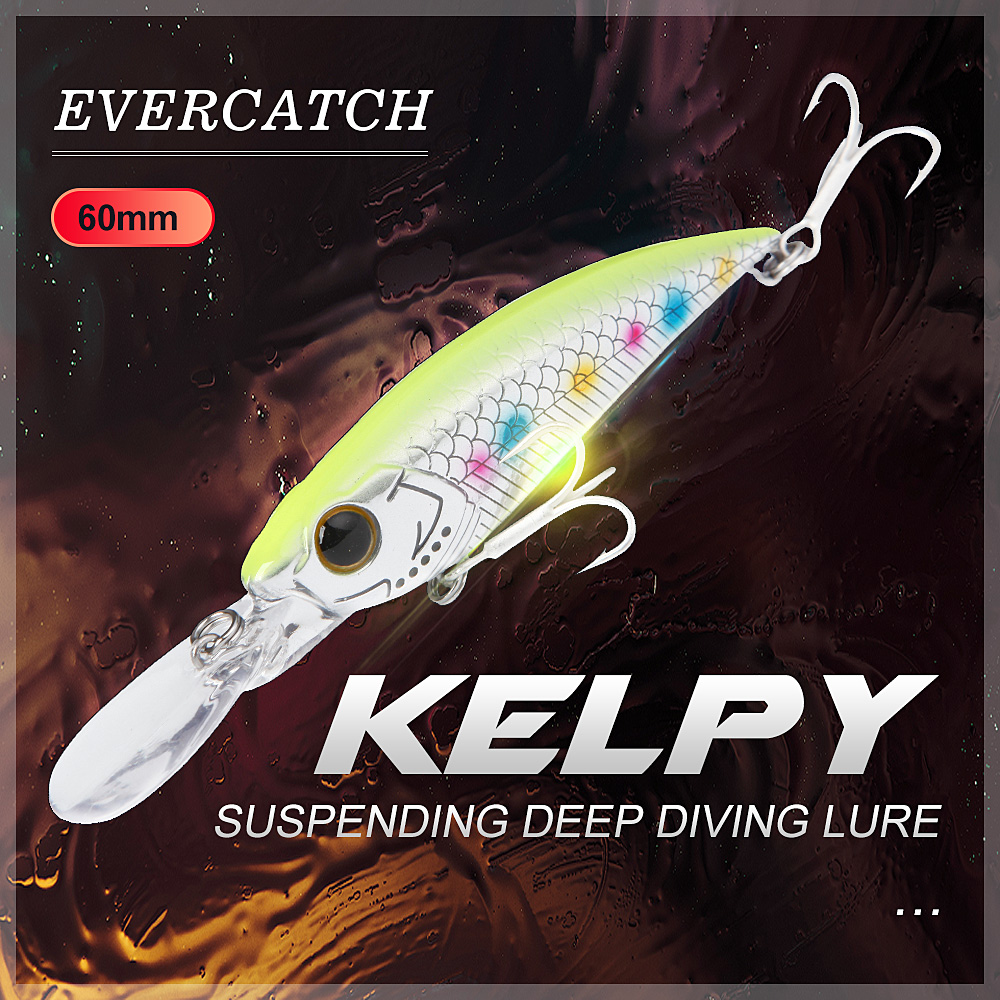 Evercatch Kelpy 5g/<font><b>60mm</b></font> <font><b>minnow</b></font> shad suspending deep diving crankbaits rattlin jerkbait floating fishing wobblers for bass pike image