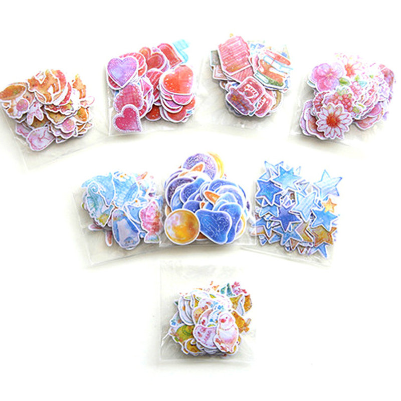 70 Pcs/Pack DIY Cute Kawaii Romantic Heart Star Crafts Scrapbooking Sticker For Decoration Student Stationary School Supplies