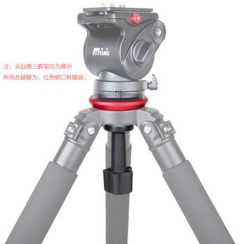 JIEYANG Bowl Adapter Metal 75mm Half Ball Flat to Bowl Adapter for Fluid Head Tripod DSLR Rig Camera