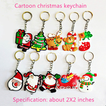 Christmas Keychain Christmas Decoration Santa Claus Elk Snowman Keychain New Year Decoration 2021 Children's Gift Key ring chris image