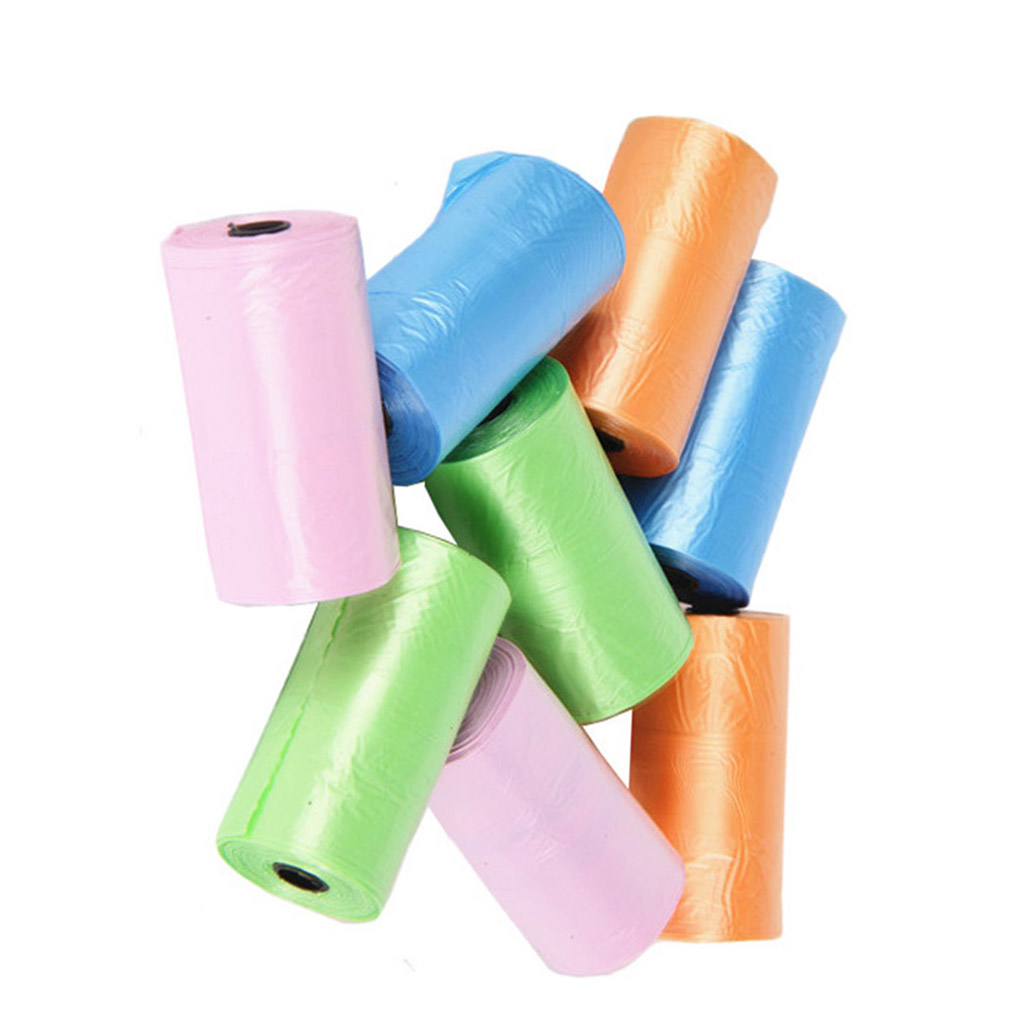 Color Random Portable Baby Diapers Abandon Bag Roll Home Outdoor Disposable Plastic Garbage Pouches