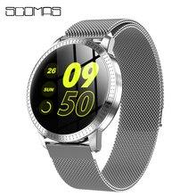 """Scomas Nieuwe Mode CF18 Smart Horloge 1.22 """"Ips Gehard Glas Hartslag Bloeddrukmeter Multi Sport Vrouwen Band smartwatch"""