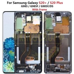 Image 3 - Für Samsung Galaxy S20 Lcd G980,G980F, g980F/DS mit Rahmen Display Touchscreen Digitizer Für Samsung s20 plus LCD G985 G985F