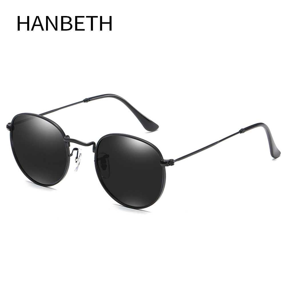 Classic Round Polarized Sunglasses Men Brand Designer Vintage Sun Glasses Women Metal Frame Polarized Driving Eyewear UV400