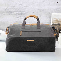 Trend new fashion leisure Korean version of large capacity travel luggage bags short distance light men and women boarding bags