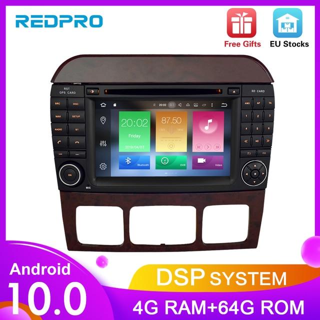 """7 """"Android10.0 reproductor de DVD del coche de navegación GPS para Benz SCL clase S320 S350 W220 W215 CL600 1998 2005 Audio Video Radio Multimedia"""