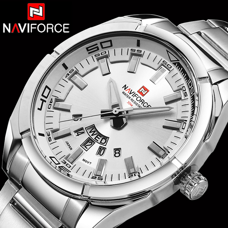 Naviforce Men Watches Top Brand Luxury Business Big Male Wristwatch Full Steel Waterproof Wrist Watch Men 2020 Relogio Masculino