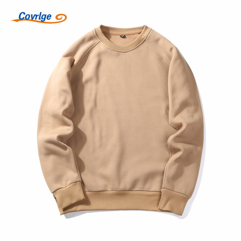 Covrlge Fashion Brand Men Hoodie 2019 Autumn Male Solid Color Sweatshirts Hoodies Men's Hip Hop Pullover Hoodies EU Size MWW047