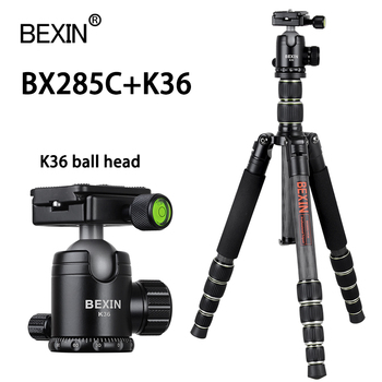 BEXIN travel camera tripod professional portable carbon fiber tripod monopod ballhead stand tripod for dslr digital DV camcorder фото
