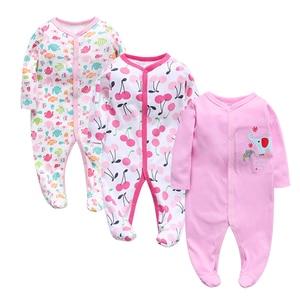 Image 4 - 3 adet/grup Bebek Giyim Yenidoğan tulumlar Bebek Erkek Kız Romper Giysileri Uzun Kollu Bebek Ürün 2019 yeni Bebek Giysileri