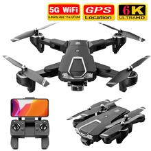 Nowy Drone 4K GPS Profissional 6K WIFI FPV HD podwójny aparat kwadrokopter z kamerą zdalnie sterowane drony helikoptery pilot składana zabawka cheap DEEPAOWILL CN (pochodzenie) Z tworzywa sztucznego 500m 27*22*8cm Mode2 15day Silnik bezszczotkowy 7 4v LS-25 4 kanały Oryginalne pudełko