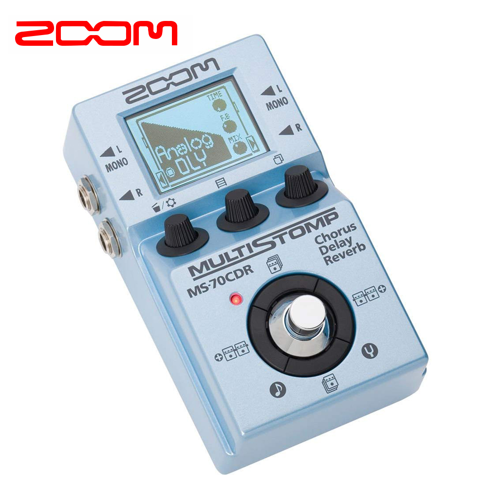 Zoom Multistop Chorus Delay And Reverse Pedal (zms70cdr), Portable Guitar Pedal